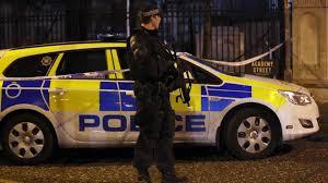 Police scene armed cop