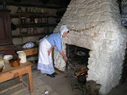 The inside of a house at the Ulster American Folk Park