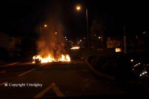 Vehicles set on fire in Woodlands Avenue, Carrickfergus last night