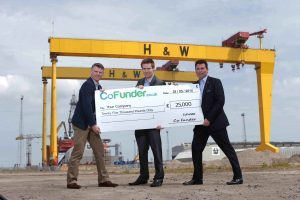 Launching the innovative new company are (l-r) CoFunder (NI) Ltd directors Michael Faulkner, Gavin Gallagher and Aidan Doherty.