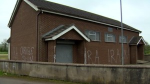 Republican graffiti daubed on Co Antrim Orange Hall overnight