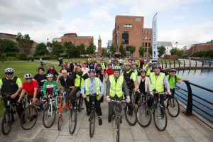 Transport Minister Danny Kennedy joined over 250 commuters who took part in Bike to Work Day this morning