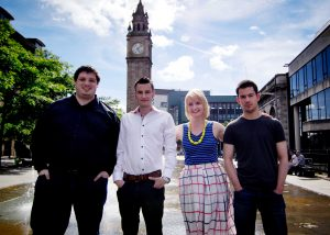 David Turner, Kyle Gawley, Emma Leahy and Stuart Kennedy. of Get Invited