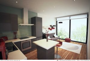 The interior of an apartment at Regent's Gate - artist's impression