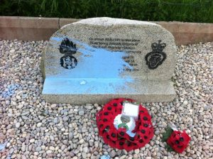 Blue paint thrown over memorial to murder Scottish soldiers