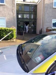 CSI team at the scene at Shore Crescent north Belfast