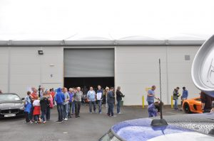Disappointed fans stand at the entrance to motor show. PIC: TIM HEDGLEY,