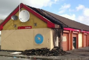 Ladbrokes bookmakers shop gutted in overnight arson fire