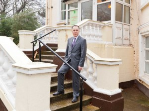 GUARDIAN ANGEL:  Belfast man Damian Woods, regional manager for Camelot Property Management,