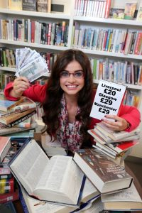 Student Anna Henry takes a break from her study to work out how much she has saved after availing of Stena Line's new offer.