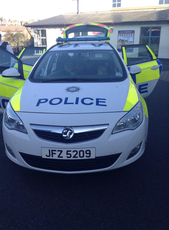Police car collect