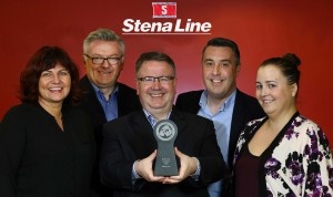 Pictured with the award are Elaine McShane, Marc Casey,  Ian Baillie, Tony Molloy and Lorna McGivern.