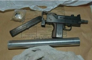 Sub machine gun seized by detectives who smashed a drugs gang
