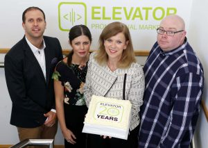 CAPTION: From left: Geoff Johnston (Director), Grace Sawyers (Account Manager), Sara Callanan (Managing Director) and David Nightingale (Senior Designer).