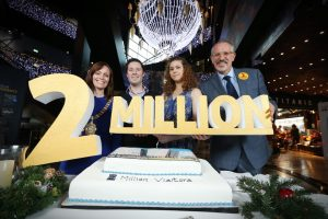 Michael Sweeney became the two millionth person to visit Titanic Belfast