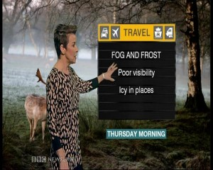 BBC NI weather presenter Cecilia Daly warns of black ice and fog for commuters