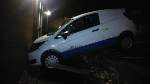 YOU'RE NICKED: Suspected drink driver crashes into police station