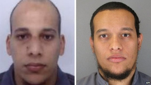 Brothers Said and Cherif Kouachi wanted over murder of 12 people in Paris