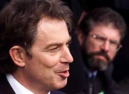 Tony Blair with Sinn Fein president Gerry Adams