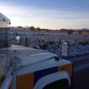 police snow warning
