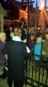 Parishoners packed the gates of St Peter's Cathedral in support of Fr Dallat
