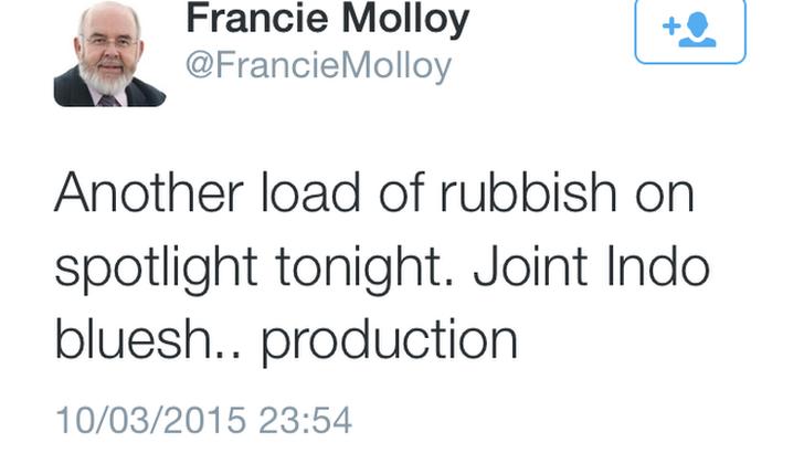 Francie Molloy tweet