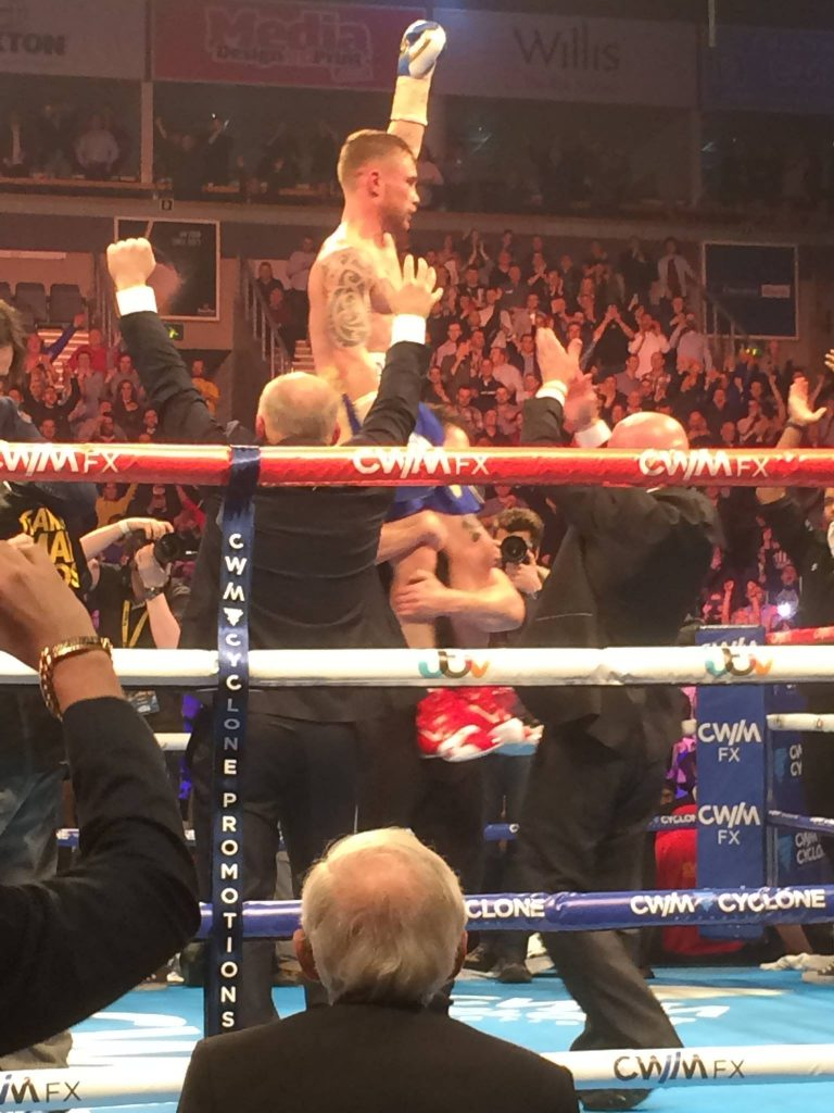 HE'S STILL THE CHAMP: Carl Frampton retains his IBF belt in front of a packed Odyssey Arena in Belfast
