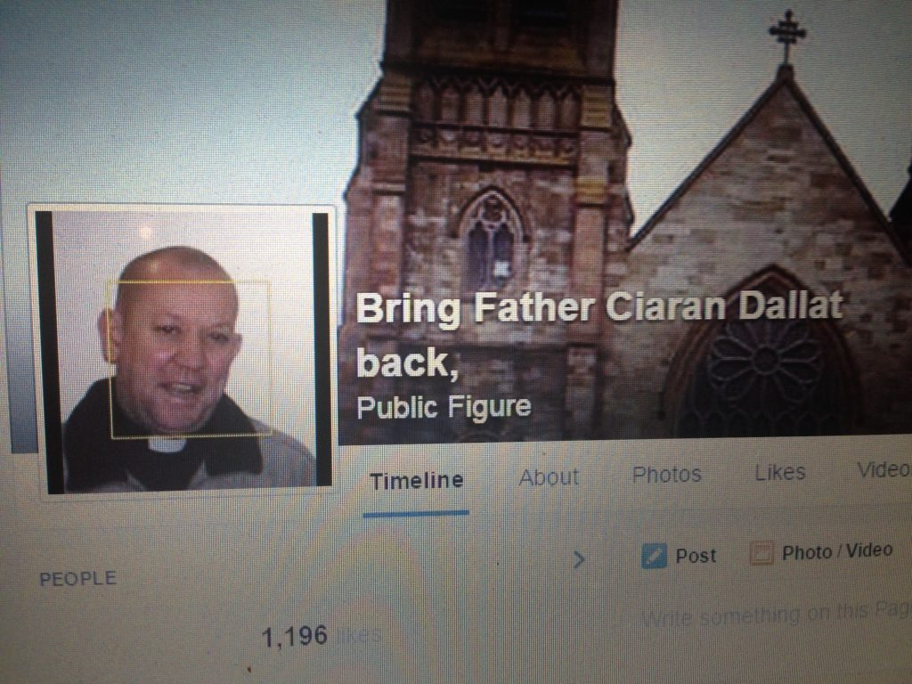 The Facebook page set up in support of Fr Ciaran Dallat