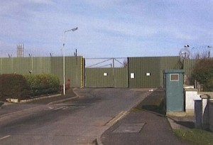 Shackleton Barracks in Co Derry where 14 men were tortured by the British Army in 1971