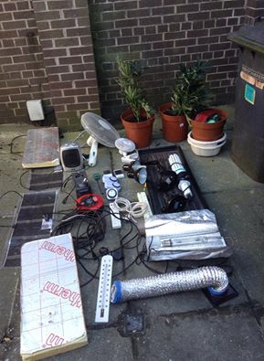 The drugs and drug paraphernalia seized in Comber house raids