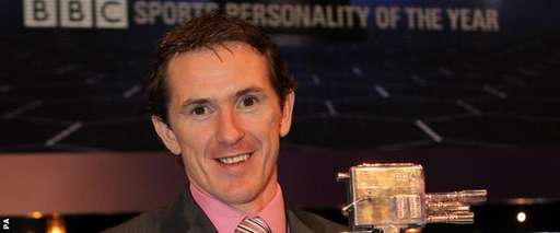 Horse racing legend AP McCoy with the Sports Personality of the Year trophy