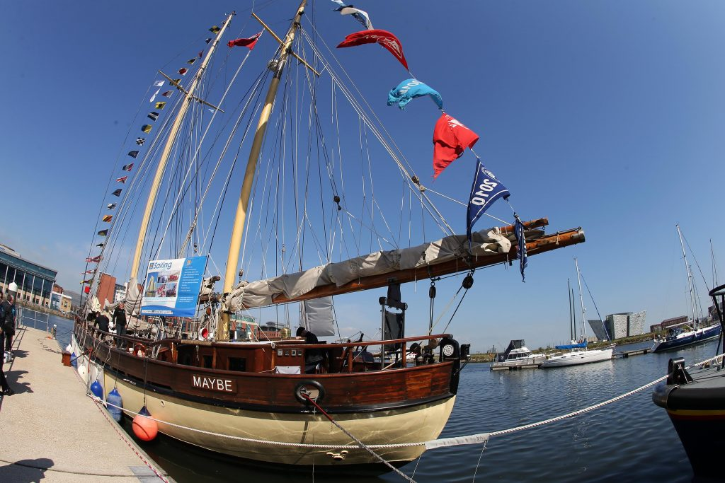 Tall Ships return for biggest event ever staged in Belfast this week. PIC: KELVIN BOYES/PRESSEYE