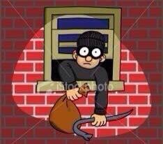 Burglars about