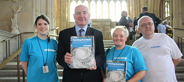 Foyle MP Mark Durkan in London with Trocaire campaigners