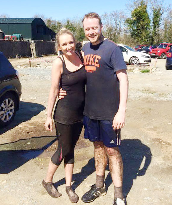 Kathryn Jones and her partner well known Highland Radio dj Paddy Friel.