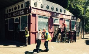 Clean up underway to remove paint from McGurk's bar memorial