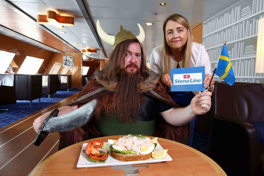 Lorna McGivern from Stena Line and 'Viking' Chris are celebrating all things Swedish by encouraging everyone to get their 'Swede-On' and find out more about the beautiful Scandinavian country with a range of themed events, promotions and competitions onboard Stena Line ships.