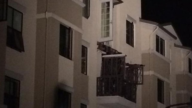 The scene of the tragedy in Berkeley, California where five students died after a balcony collapsed