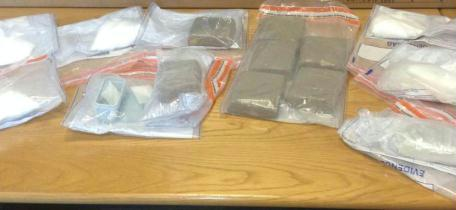 The £150,000 haul of suspected cocaine seized by cops
