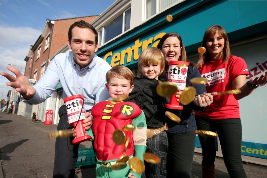 Centra Superheroes...Centra stores throughout Northern Ireland are encouraging customers this Halloween to support their fundraising challenge as they attempt to raise a cosmic £80,000 for Action Cancer.   Picture by Darren Kidd / Press Eye.