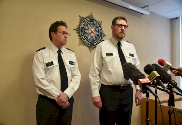 ACC Stephen Martin (right) and Belfast police commander Chief Supt Chris Noble