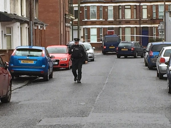 The scene of the bomb attack at Hillsborough Drive last Friday morning in east Belfast