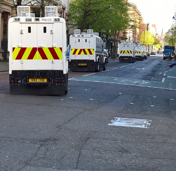 Police deploying in Belfast this morning ahead of republican an loyalist parades