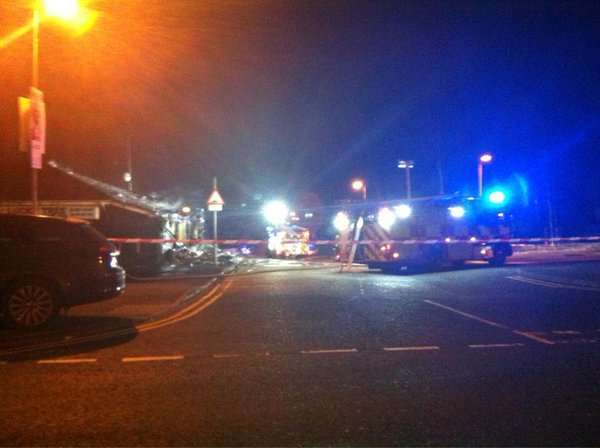 The scene of the arson attack in west Belfast in the early hours of Sunday morning