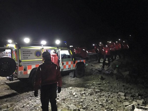 The scene of the incident yesterday evening when the Mourne Mountain Rescue Team were called into action