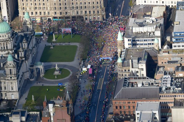 A view from the skies above from the PSNI's helicopter