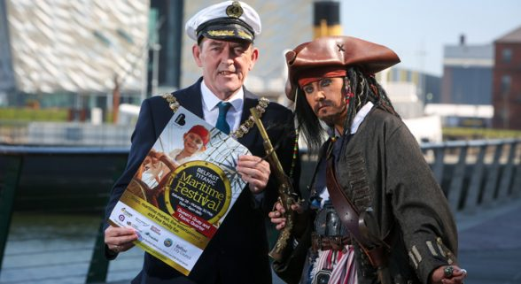 Belfast Lord Mayor Arder Carson gearing up for the start of the Titanic Maritime Festival later this monh