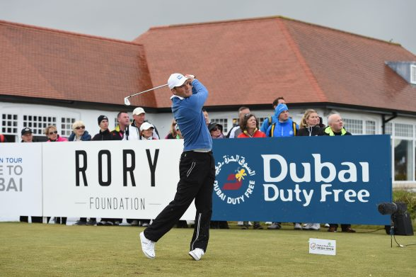NEWCASTLE, NORTHERN IRELAND - MAY 29: Martin Kaymer of Germany tees off during the Second Round of the Dubai Duty Free Irish Open Hosted by the Rory Foundation at Royal County Down Golf Club on May 29, 2015 in Newcastle, Northern Ireland. (Photo by Ross Kinnaird/Getty Images)
