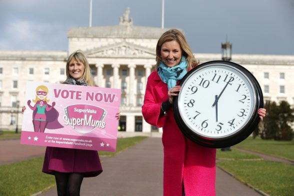 SuperValu SuperMums... Time is running out in the search to find Northern IrelandÕs SuperValu SuperMum for 2016. TV personality Claire McCollum and SuperValuÕs Kate Ferguson are encouraging people to get their nominations in before the May 22 deadline. PIC: BY KELVIN BOYES/PRESSEYE