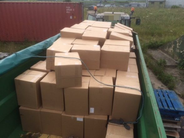 The massive one ton haul of benzocaine seized by the PSNI in England